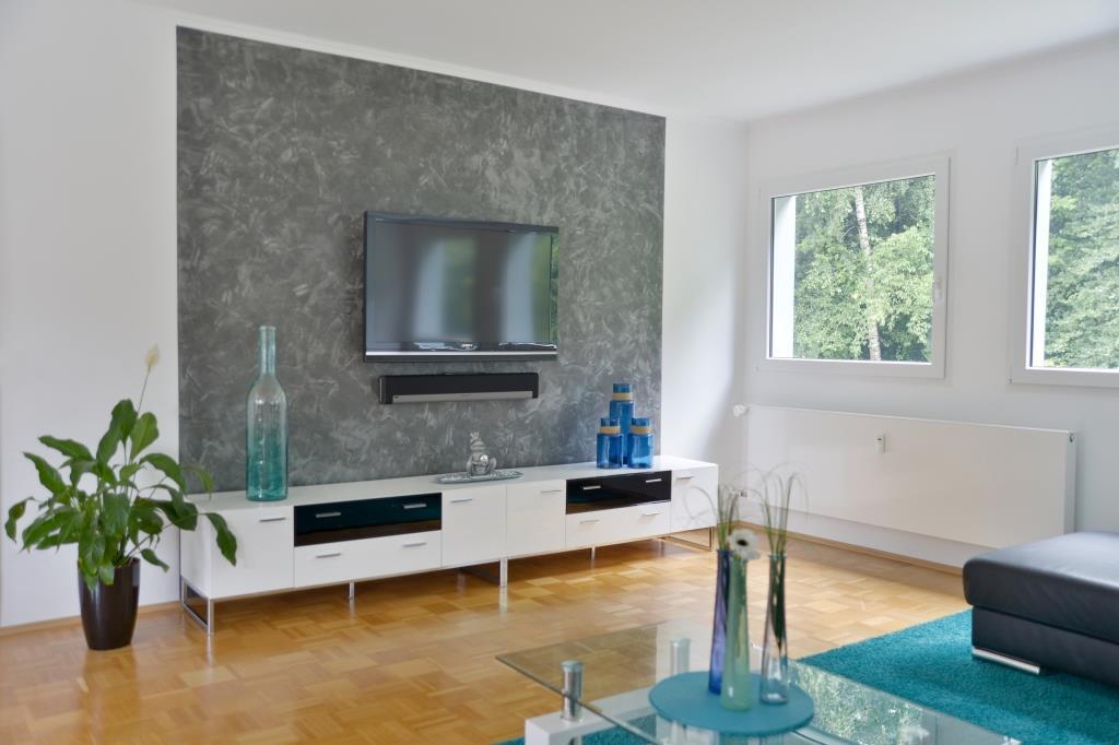 Wohnzimmer Mit Spachteltechnik